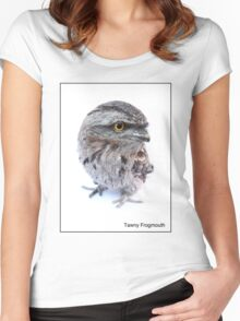 Tawny Frogmouth Women's Fitted Scoop T-Shirt