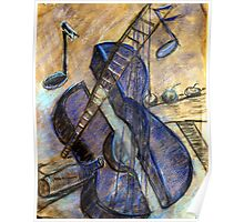 The Blue guitar -  about Pablo Picasso. Poster