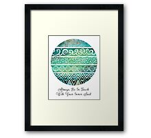 Tribal Evolution Series I Framed Print