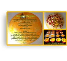 Savoury Muffins with recipe Canvas Print