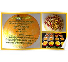 Savoury Muffins with recipe Poster