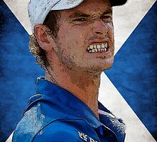 Andy Murray Scottish Flag by rodgers37