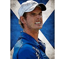 Andy Murray Scottish Flag Photographic Print