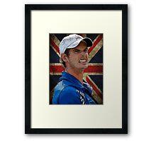 Andy Murray British Flag Framed Print