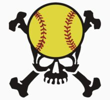 Softball Skull by shakeoutfitters