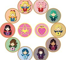 Sailor Senshi Circle by CptnLaserBeam