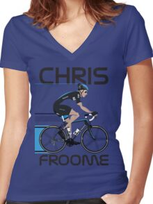 Chris Froome Women's Fitted V-Neck T-Shirt