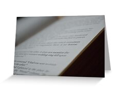 Words on a Page Greeting Card