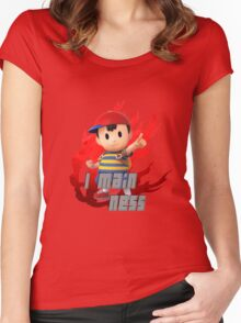I MAIN NESS Women's Fitted Scoop T-Shirt