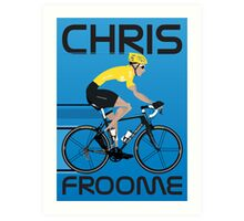 Chris Froome Yellow Jersey Art Print