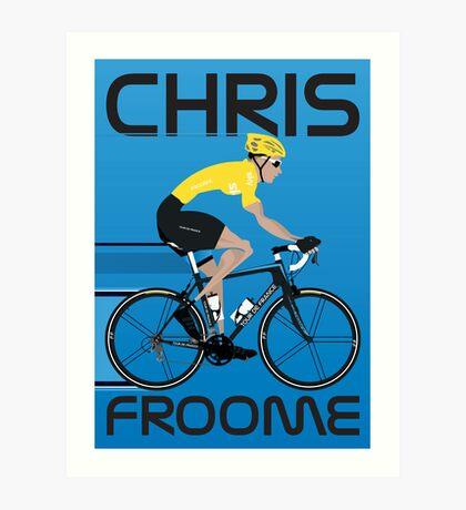 Chris Froome Yellow Jersey Art Print