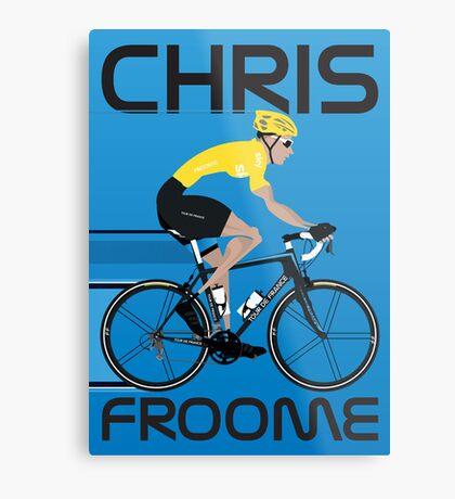 Chris Froome Yellow Jersey Metal Print