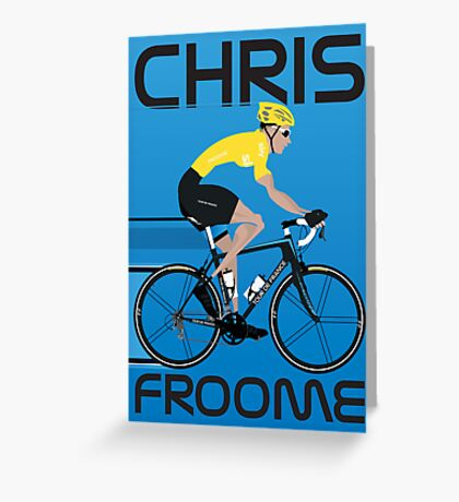 Chris Froome Yellow Jersey Greeting Card