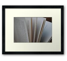 Pages of a Book Framed Print