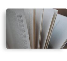 Pages of a Book Metal Print