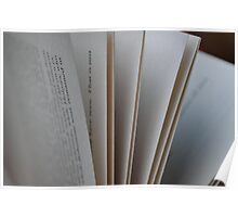 Pages of a Book Poster