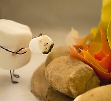Cannibalism is Sweet - Anthropomorphic Marshmallow by Heather Applegate