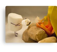 Cannibalism is Sweet - Anthropomorphic Marshmallow Canvas Print