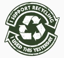 I support recycing - Sticker by R-evolution GFX