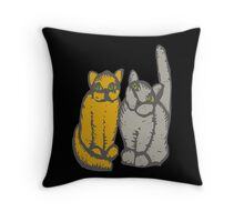 Cats couple - pets, cats, kittens, rescue,  Throw Pillow