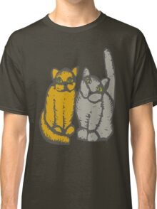 Cats couple - pets, cats, kittens, rescue,  Classic T-Shirt