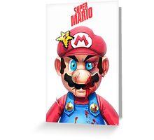 Beat Up Mario Greeting Card