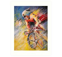 The Cyclist from Santiago Art Print