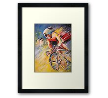 The Cyclist from Santiago Framed Print