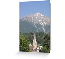 Reaching For The Top: Austria Greeting Card