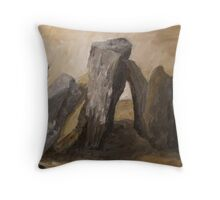 Lined in a Row Throw Pillow