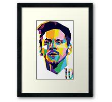 Messi ART Framed Print