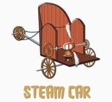 Steam Car T-shirt by Dennis Melling