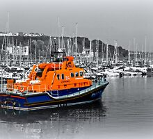 Brixham Lifeboat by Beverley Barrett