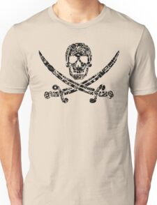 Pirate Service Announcement - Black Unisex T-Shirt