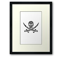 Pirate Service Announcement - Black Framed Print