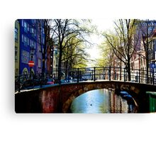 Amsterdam canals Canvas Print