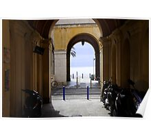Archway to Nice beach Poster