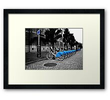 Bicycles for rent in Gothenburg Framed Print