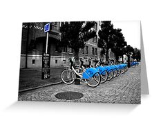 Bicycles for rent in Gothenburg Greeting Card