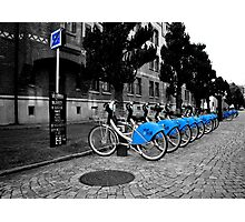 Bicycles for rent in Gothenburg Photographic Print