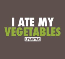 I Ate My Vegetables (White) by Levantar