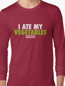 I Ate My Vegetables (White) Long Sleeve T-Shirt