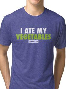 I Ate My Vegetables (White) Tri-blend T-Shirt