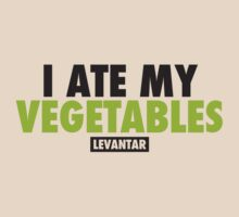 I Ate My Vegetables (Black) by Levantar