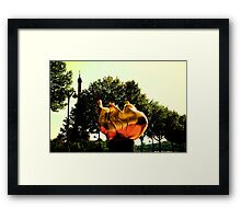Freedom flame in Paris Framed Print
