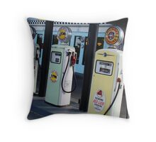 gas pumps from the past Throw Pillow