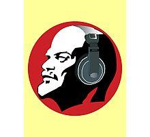 Lenin with Headphones Photographic Print