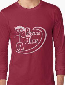 Pajama Jams Logo #1 - Eugene Style, White Version Long Sleeve T-Shirt