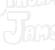 Pajama Jams Logo #1 - Eugene Style, White Version Sticker