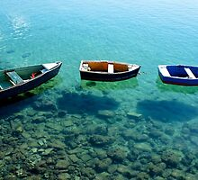 Three boats in Lanzarote by PlanetFranck